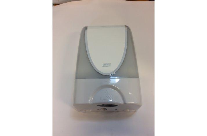 Dispenser, håndfri DEB Silverline, 1200 ml, hvid plast